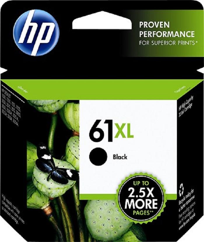 HP 61XL Black Ink Cartridge, CH563WN